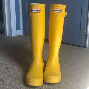 Tall Matte Yellow Hunter Boot